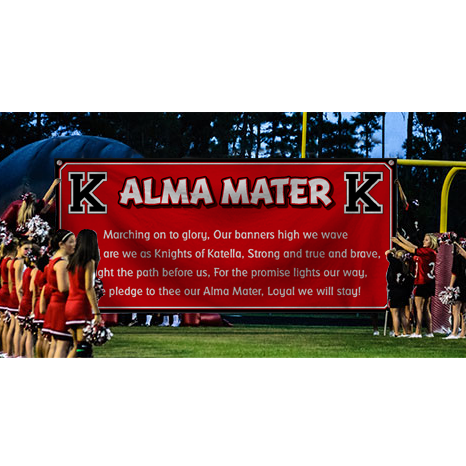New Alma Mater Spirit Flag and wall banners